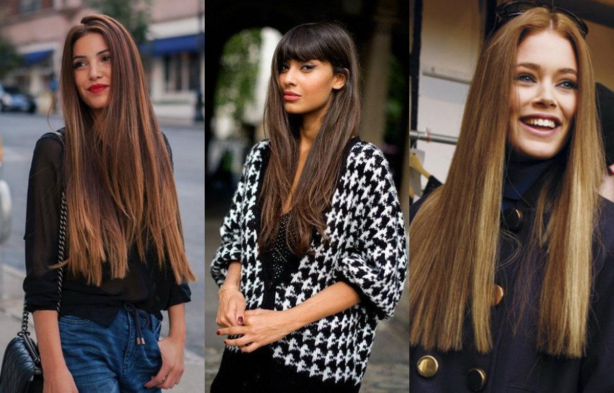 Окраска длинных волос модные тенденции