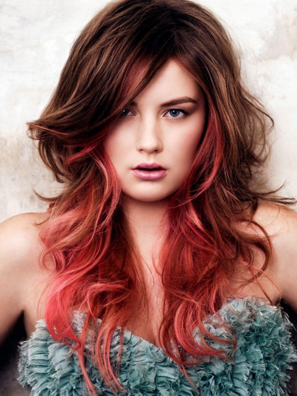 Картинки покраска волос в два цвета