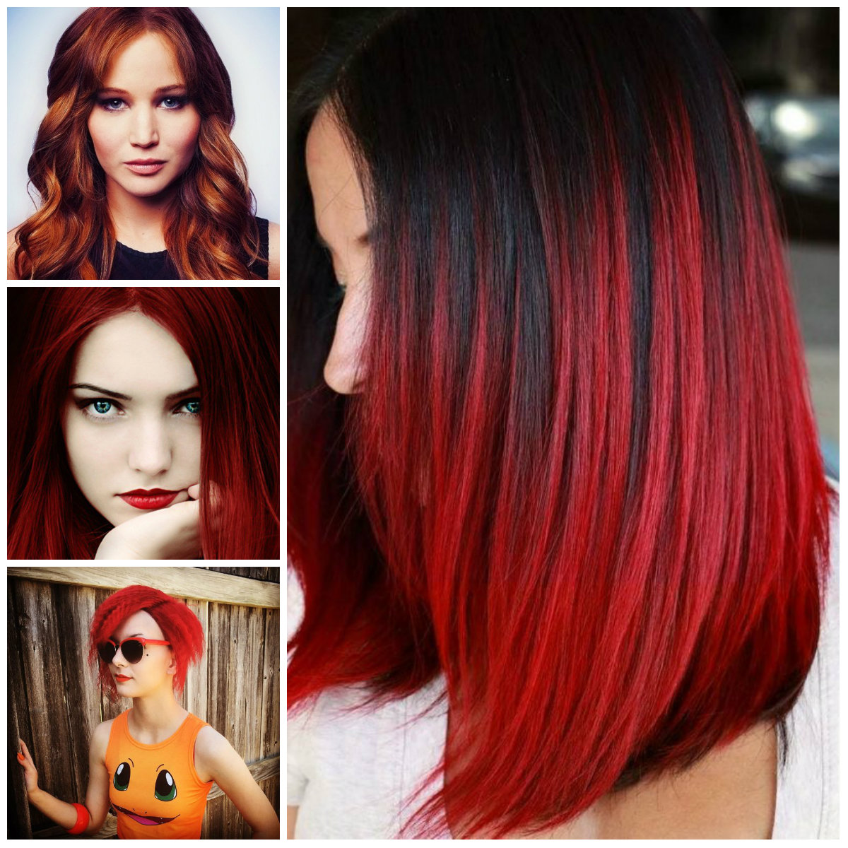 Red Hair Color Ideas For Brunettes Image Of Hair Salon And Hair Color