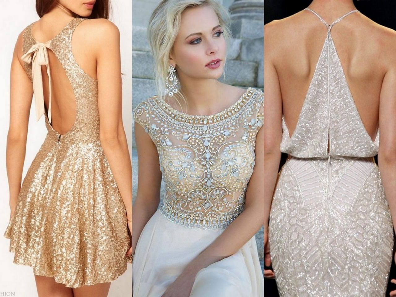 на фото новый вечерние платья год