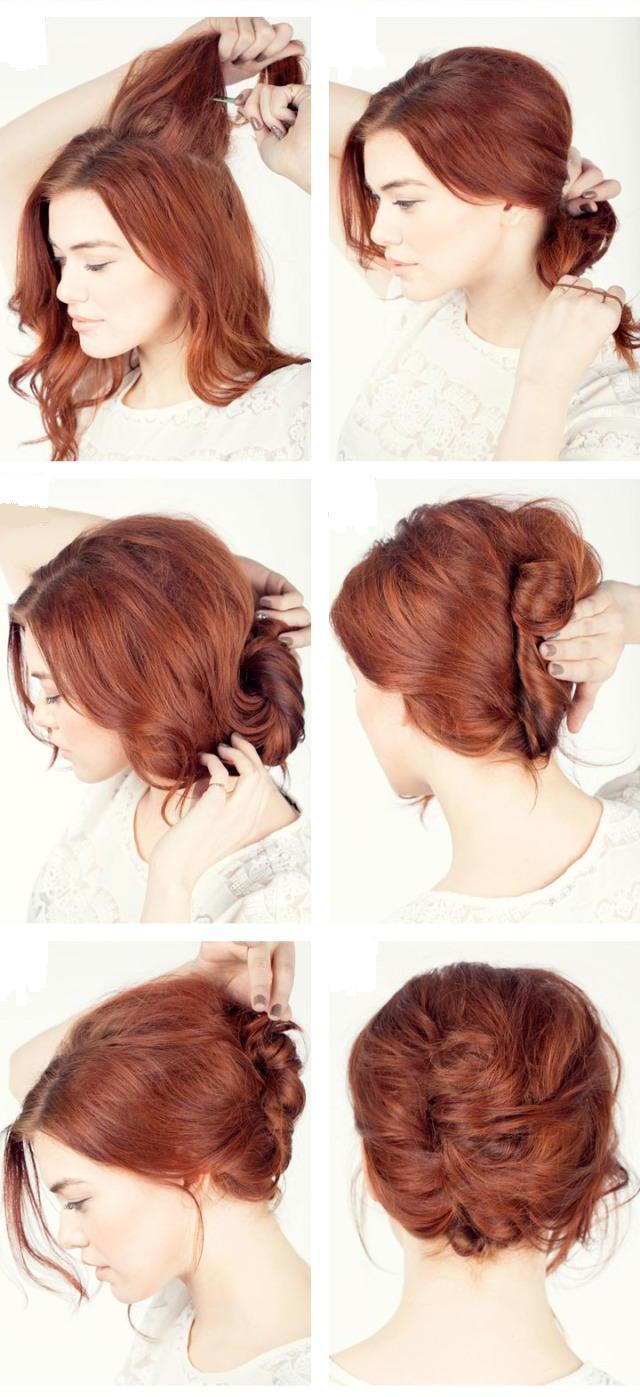 Как сделать ракушку на коротких волосах в 91