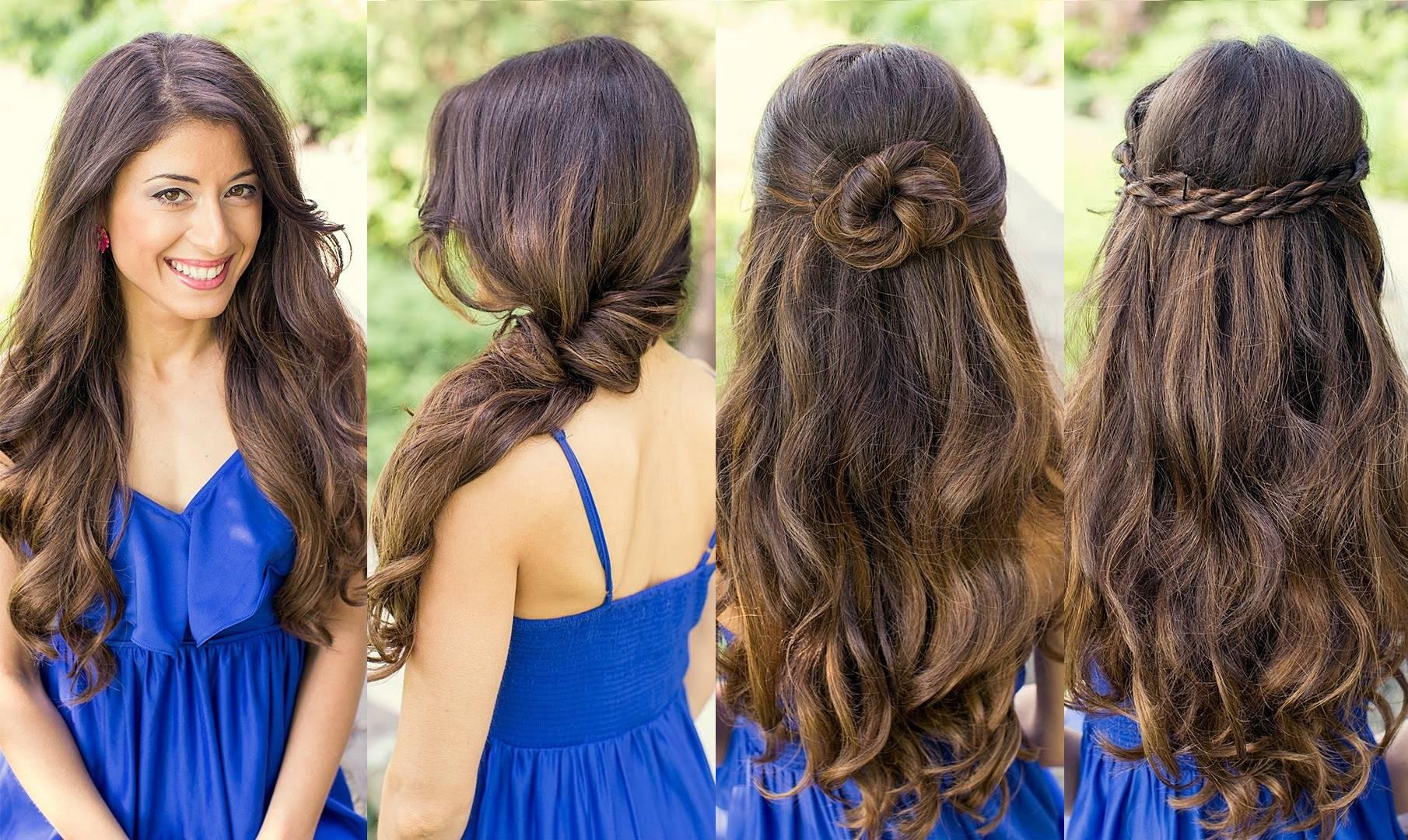 Прически с распущенным волосом в домашнем условии