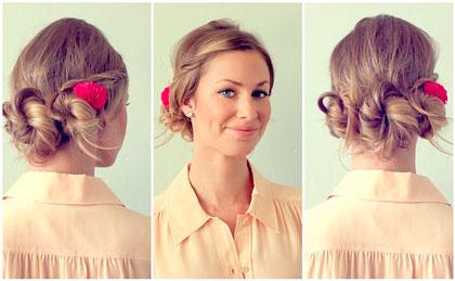 Как завязать волосы средней длины красиво
