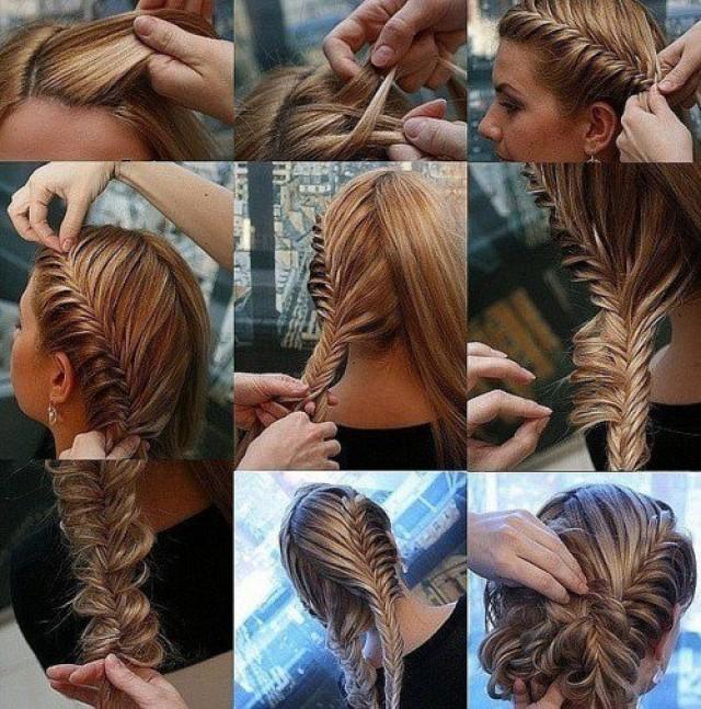 Красивые причёски для длинных волос своими руками фото