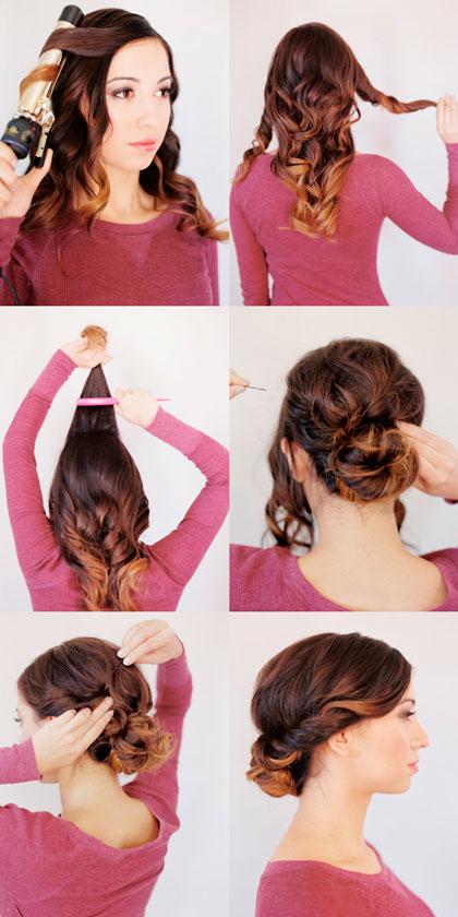 Прически для средних волос на каждый день в домашних условиях поэтапно