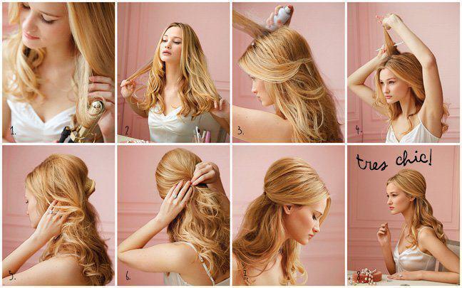 Лёгкая и красивая причёска