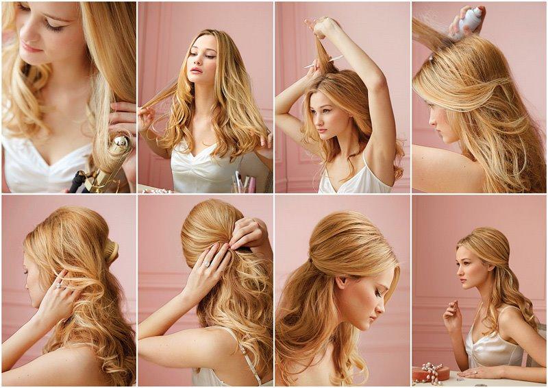 как сделать прическу на длинные волосы самой