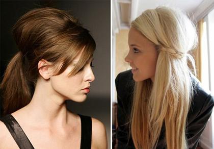 прически с длинными прямыми волосами