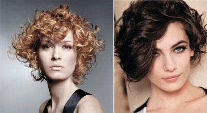 Ассиметричные стрижки на вьющиеся волосы