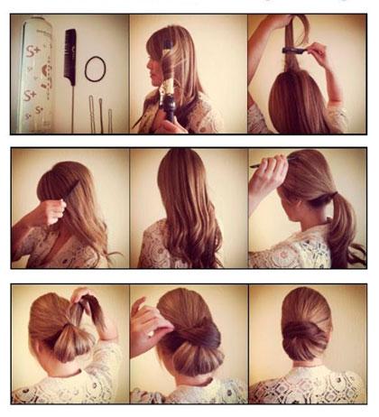 Лёгкие причёски на средние волосы своими руками фото