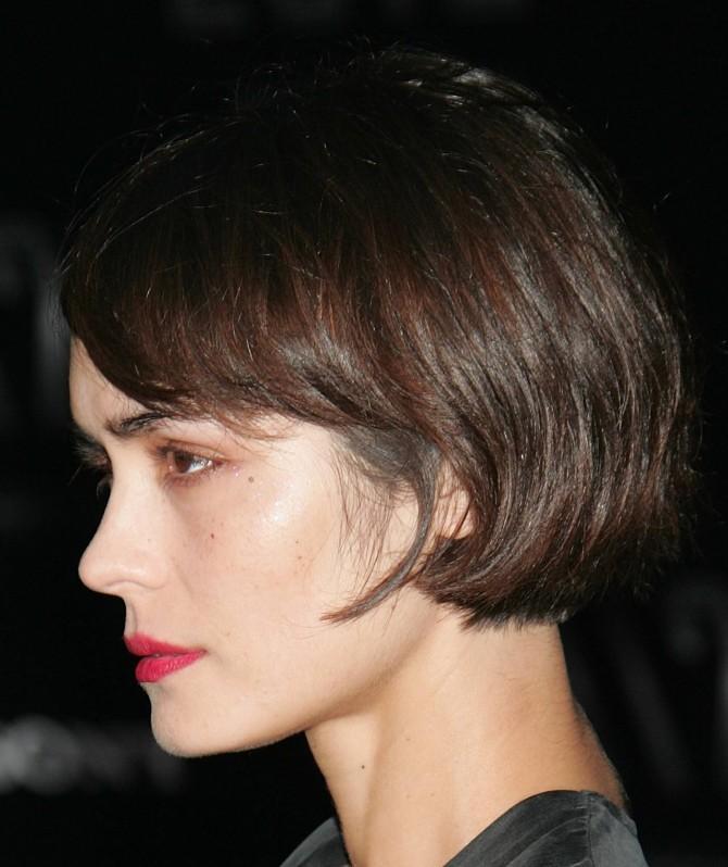Короткая стрижка для густых прямых волос