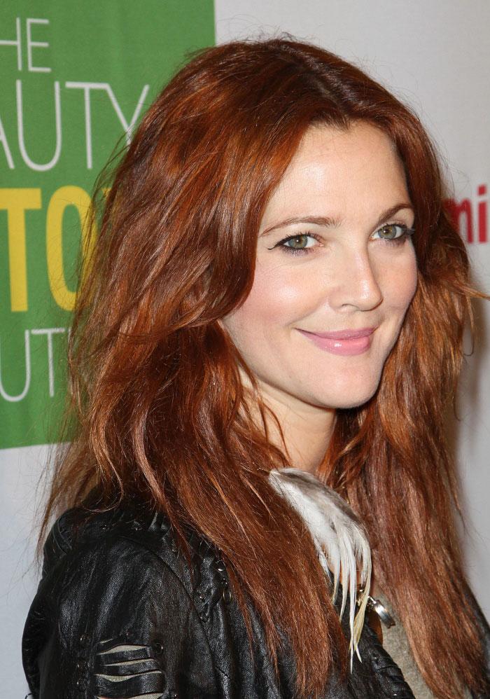 темно рыжий цвет волос фото: