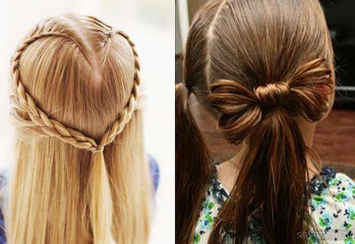Прическа на длинные волосы девочке
