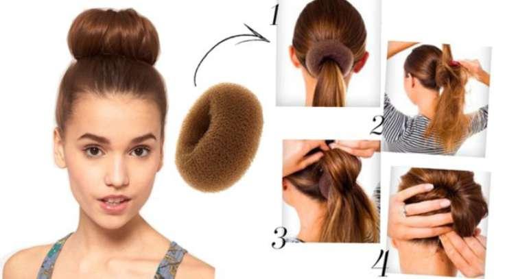 Как сделать причёску шишку
