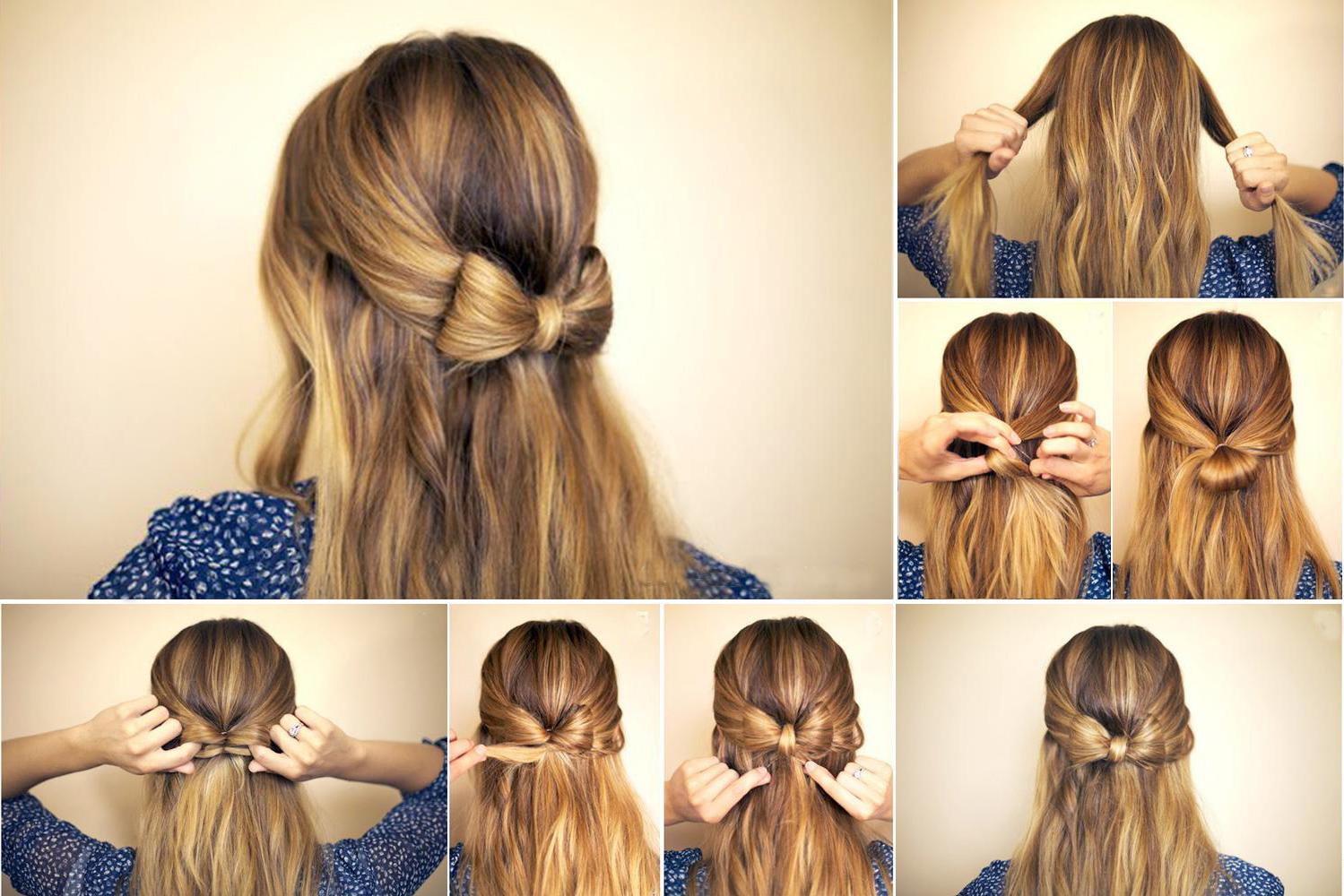 Легкие прически на волосы средней длины