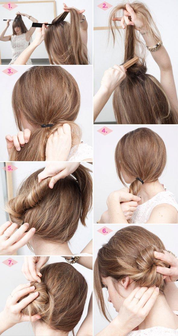 Укладка на длинные волосы по утрам