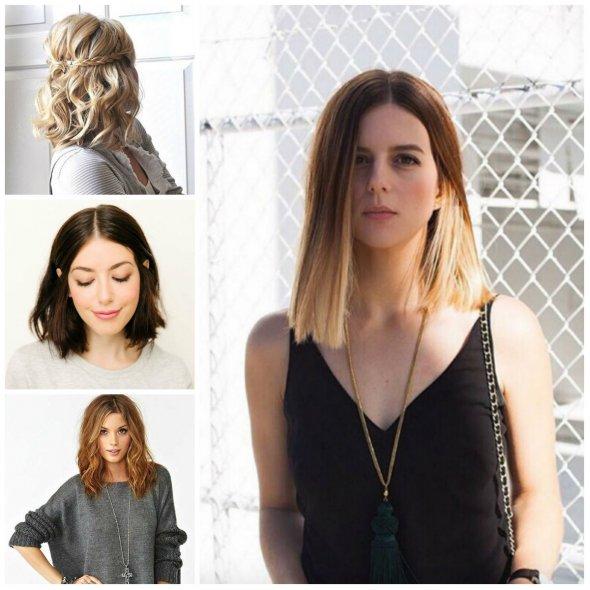 Прически на среднюю длину волос 2017