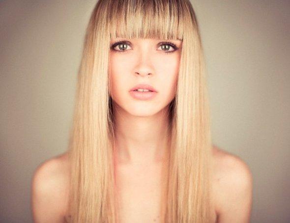 Красивые причёски с ровной чёлкой