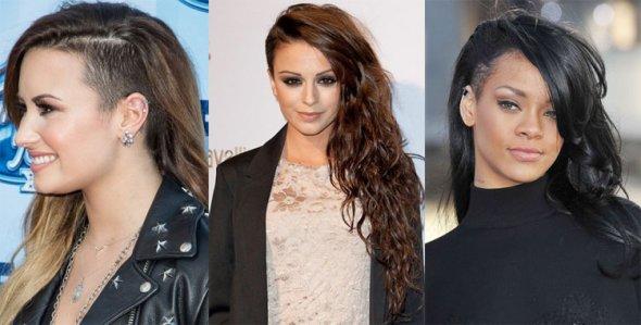 Причёски с выбритыми висками длинные волосы женские