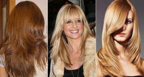 Стрижка градуировка на длинные волосы