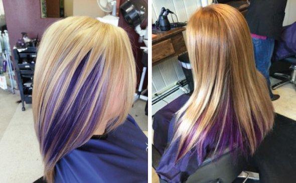 фото двойная покраска волос