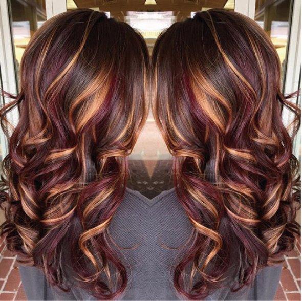 Покраска в два цвета на средние волосы