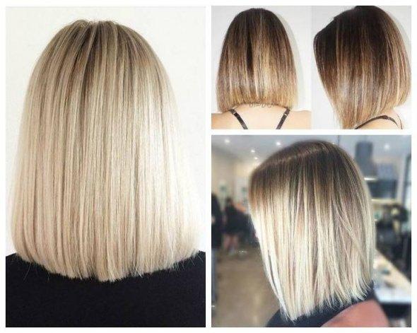 Стрижки на средние волосы каре удлиненное каре