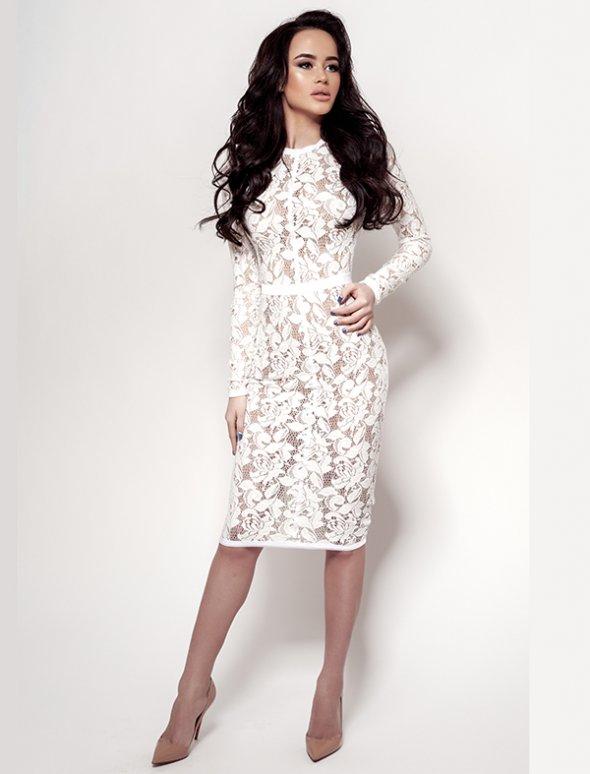 Купить белые гипюровые платья