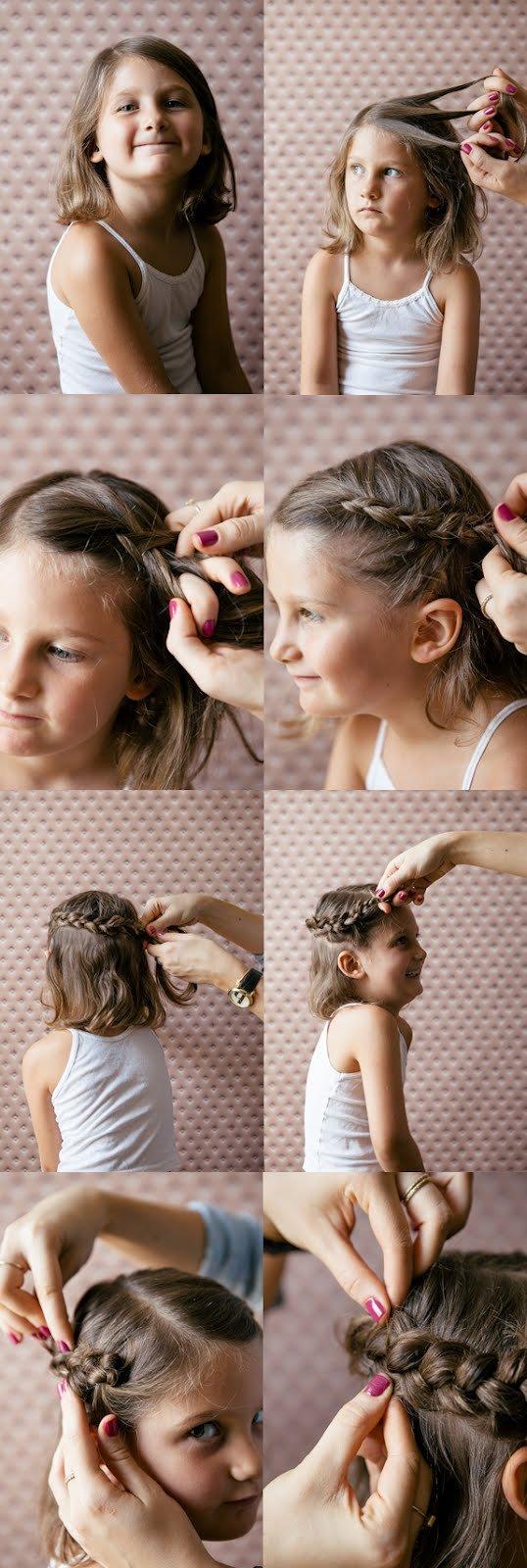 Как сделать короткую прическу для девочки