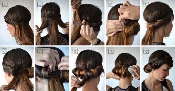 Греческие прически на средние волосы пошагово фото