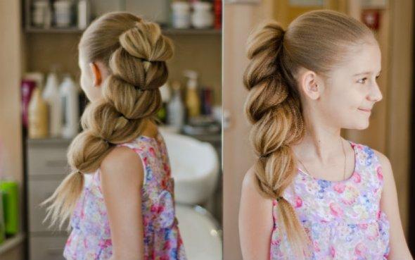 Прическа для жидких волос средней длины
