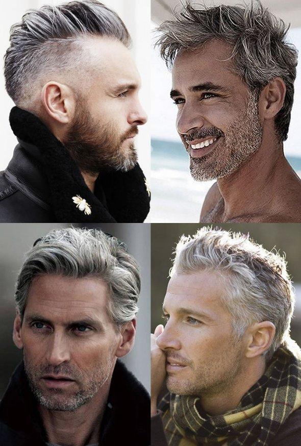 Прически седые волосы фото мужские