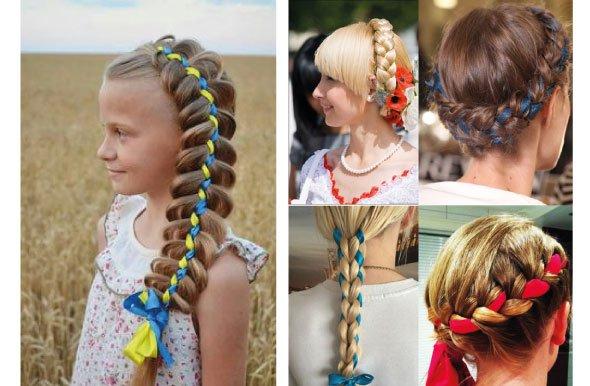 Детские прически в украинском стиле