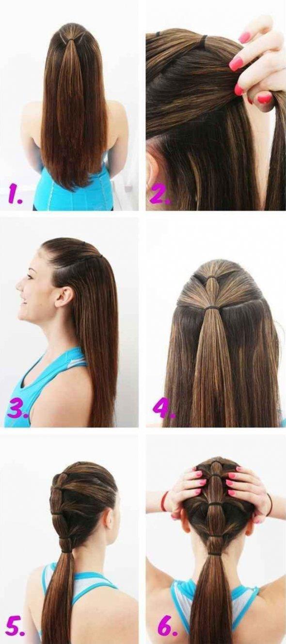 Как из длинных волос сделать красивый хвост
