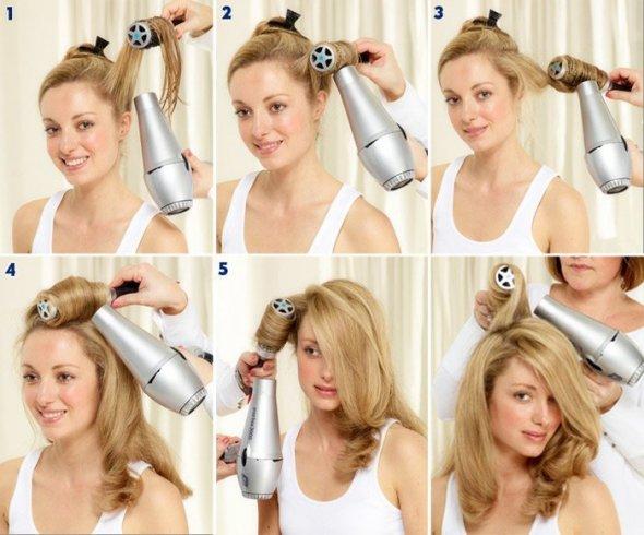Как уложить волосы на средние волосы в домашних условиях